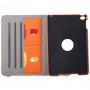 Pouzdro / kryt otočným držákem a prostorem na doklady pro iPad mini 4 - oranžové