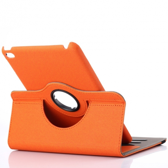AppleKing pouzdro / kryt otočným držákem a prostorem na doklady pro iPad mini 4 - oranžové - možnost vrátit zboží ZDARMA do 30ti dní