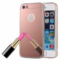 Zrcadlový ochranný kryt pro iPhone 5 / 5S / SE – růžový