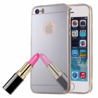 Zrcadlový ochranný kryt pro iPhone 5 / 5S / SE – stříbrný