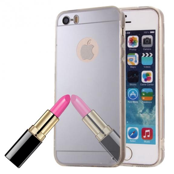 AppleKing zrcadlový ochranný kryt pro iPhone 5   5S   SE – stříbrný -  možnost vrátit a487f3a9d0c