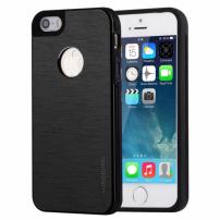 MOTOMO kovový ochranný zadní kryt pro Apple iPhone 5 / 5S / SE – černý