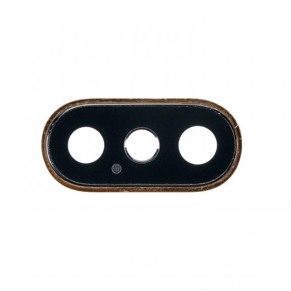 AppleKing ocelový kruhový rám obvodu zadní kamery pro Apple iPhone XS Max - zlatá - možnost vrátit zboží ZDARMA do 30ti dní