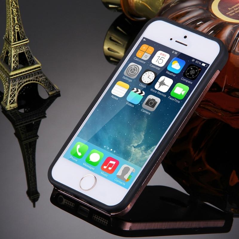 ... MOTOMO kovový ochranný zadní kryt pro Apple iPhone 5   5S   SE – růžově  zlatý ... 9f18c705331