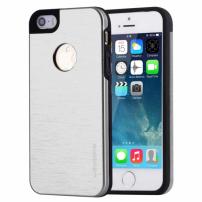 MOTOMO kovový ochranný zadní kryt pro Apple iPhone 5 / 5S / SE – stříbrný