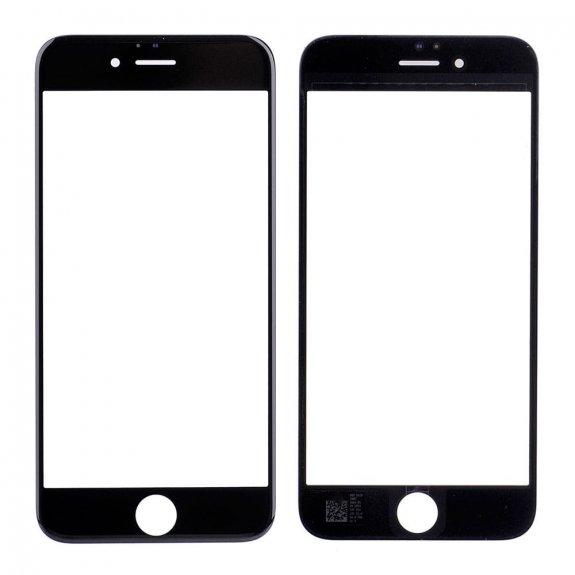 AppleKing přední dotykové sklo, včetně OCA lepidla, rámečků pro přední fotoaparát, proximity sensor a mřížky pro sluchátko, pro iPhone 6S - černá - možnost vrátit zboží ZDARMA do 30ti dní
