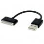 Krátký nabíjecí a synchronizační 30pin kabel pro iPhone / iPod / iPad - 10cm - černý