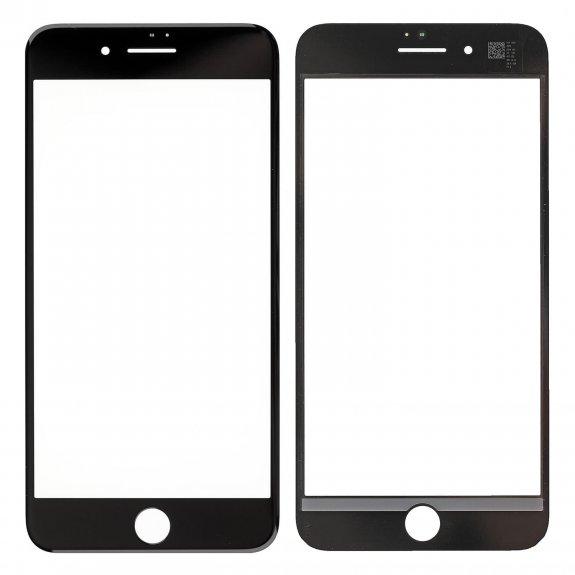 AppleKing přední dotykové sklo, včetně OCA lepidla, rámečků pro přední fotoaparát, proximity sensor a mřížky pro sluchátko, pro iPhone 8 Plus - černá - možnost vrátit zboží ZDARMA do 30ti dní