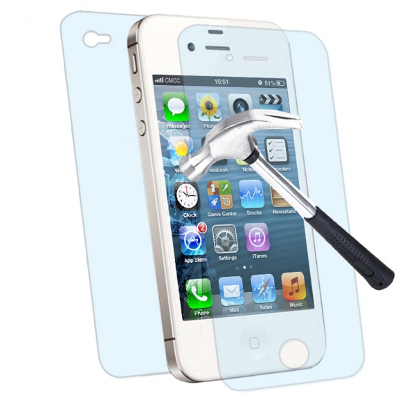 AppleKing odolná Ochranná fólie pro přední i zadní část Apple iPhone 4 / 4S - čirá - HD - možnost vrátit zboží ZDARMA do 30ti dní