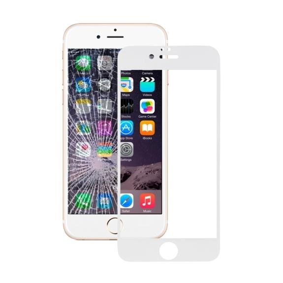 HAWEEL super odolné tvrzené sklo (Tempered Glass) pro Apple iPhone 6 Plus / 6S Plus - 0.3mm - bílé - možnost vrátit zboží ZDARMA do 30ti dní