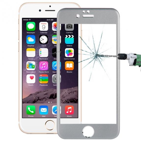 HAWEEL super odolné tvrzené sklo (Tempered Glass) pro Apple iPhone 6 Plus / 6S Plus - 0.33mm - šedo-stříbrné - možnost vrátit zboží ZDARMA do 30ti dní