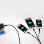Opletený synchronizační a nabíjecí kabel 3v1 s 2x Lightning + micro USB konektor - 1m - černý