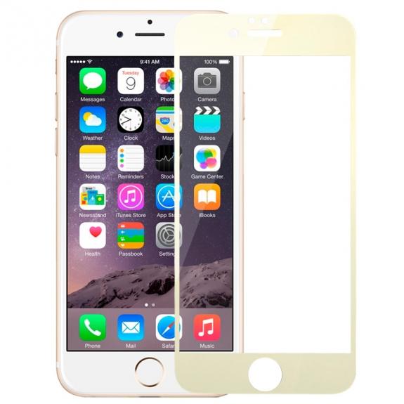 HAWEEL super odolné tvrzené sklo (Tempered Glass) pro Apple iPhone 6 Plus / 6S Plus - 0.3mm - zlaté - možnost vrátit zboží ZDARMA do 30ti dní