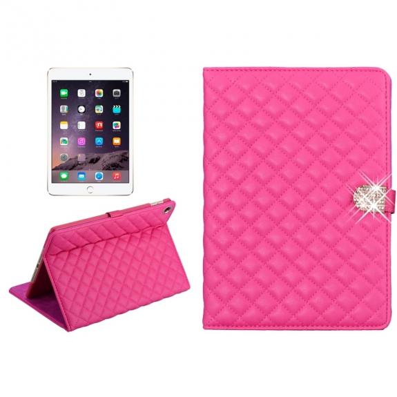 Pouzdro / kryt s integrovaným stojánkem pro iPad Air 2 - vzor kosočtverce - růžové