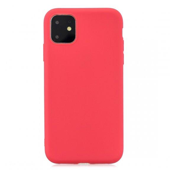 AppleKing měkký ochranný kryt pro iPhone 11 - červený - možnost vrátit zboží ZDARMA do 30ti dní