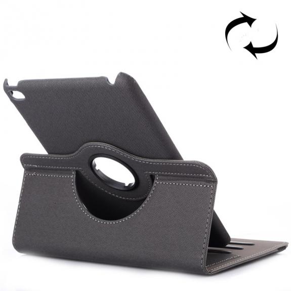 AppleKing pouzdro / kryt otočným držákem a prostorem na doklady pro iPad mini 4 - šedé - možnost vrátit zboží ZDARMA do 30ti dní