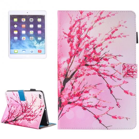 AppleKing pouzdro s prostorem pro karty, bankovky a tužku pro Apple iPad Air 2 / Air - rozkvetlý strom - možnost vrátit zboží ZDARMA do 30ti dní