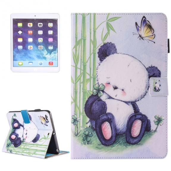 AppleKing pouzdro s prostorem pro karty, bankovky a tužku pro Apple iPad Air 2 / Air - panda - možnost vrátit zboží ZDARMA do 30ti dní