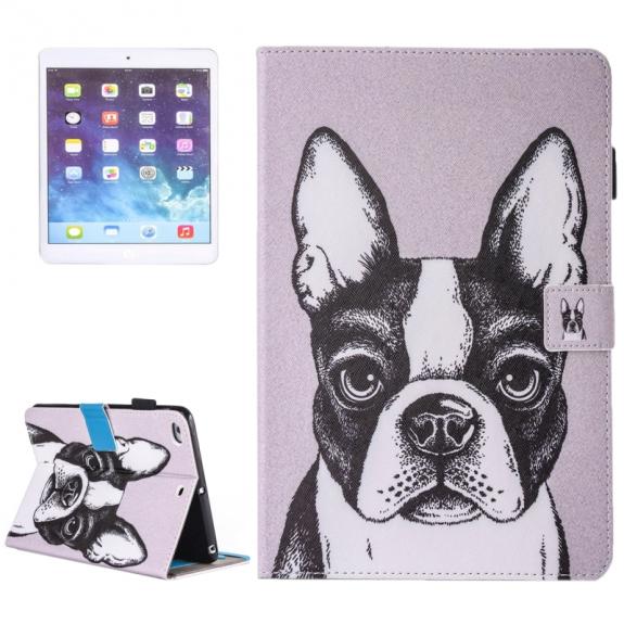 AppleKing pouzdro s prostorem pro karty, bankovky a tužku pro Apple iPad Air 2 / Air - bulldog - možnost vrátit zboží ZDARMA do 30ti dní