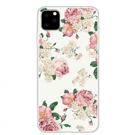 AppleKing měkký plastový kryt pro iPhone 11 - čajové růže - možnost vrátit zboží ZDARMA do 30ti dní