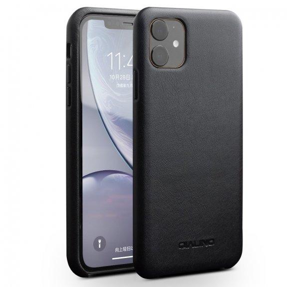 AppleKing qialino kožený kryt pro iPhone 11 - černý - možnost vrátit zboží ZDARMA do 30ti dní