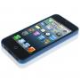 Ultra tenký (0.3mm) poloprůhledný matný kryt pro iPhone 5 / 5S / SE - modrý