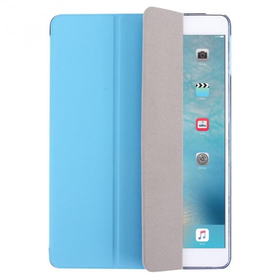03ed9247572 Pouzdro   obal s integrovaným stojánkem a zadní částí z tvrzeného plastu  pro Apple iPad Air - modré - AppleKing.cz