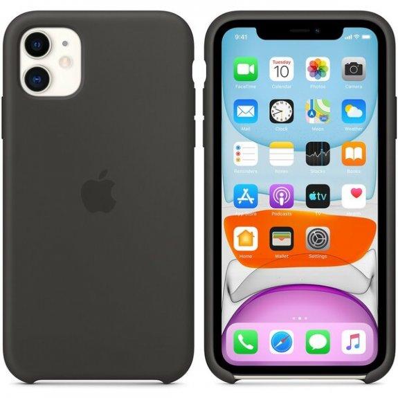 Originální Apple silikonový kryt pro iPhone 11 - černý MWVU2ZM/A - možnost vrátit zboží ZDARMA do 30ti dní