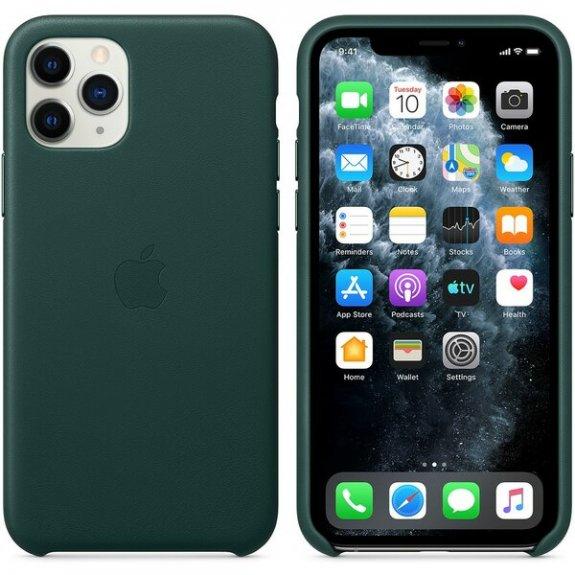 Originální Apple kožený kryt pro iPhone 11 Pro - piniově zelený MWYC2ZM/A - možnost vrátit zboží ZDARMA do 30ti dní