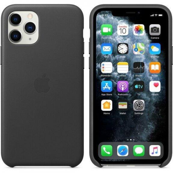Originální Apple kožený kryt pro iPhone 11 Pro - černý MWYE2ZM/A - možnost vrátit zboží ZDARMA do 30ti dní