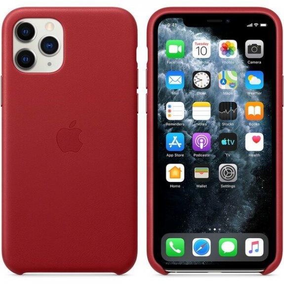 Originální Apple kožený kryt pro iPhone 11 Pro - červený MWYF2ZM/A - možnost vrátit zboží ZDARMA do 30ti dní