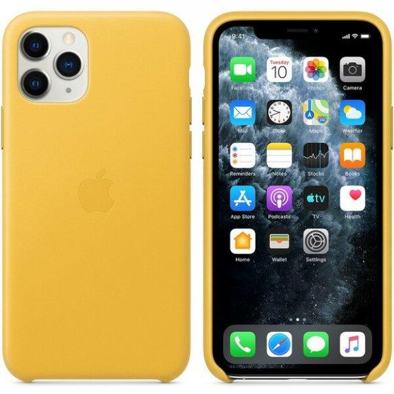 Originální Apple kožený kryt pro iPhone 11 Pro Max - hřejivě žlutý MX0A2ZM/A - možnost vrátit zboží ZDARMA do 30ti dní