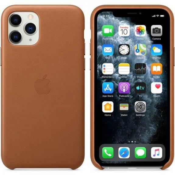 Originální Apple kožený kryt pro iPhone 11 Pro Max - sedlově hnědý MX0D2ZM/A - možnost vrátit zboží ZDARMA do 30ti dní