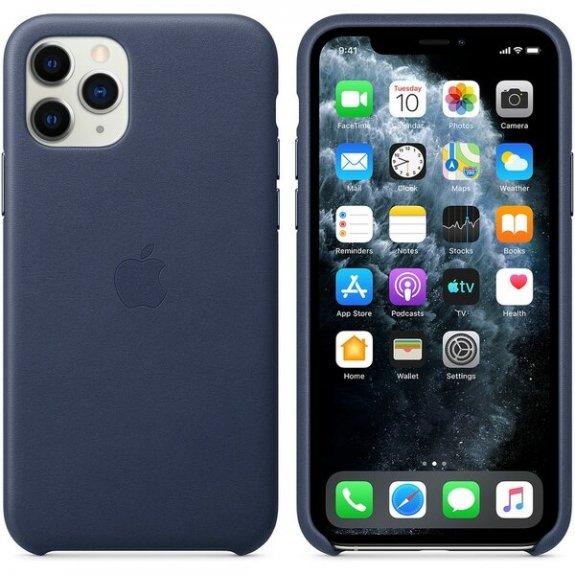 Originální Apple kožený kryt pro iPhone 11 Pro Max - půlnočně modrý MX0G2ZM/A - možnost vrátit zboží ZDARMA do 30ti dní