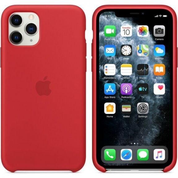 Originální Apple silikonový kryt pro iPhone 11 Pro - červený MWYH2ZM/A - možnost vrátit zboží ZDARMA do 30ti dní