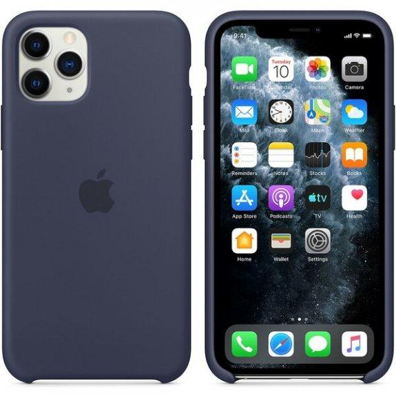 Originální Apple silikonový kryt pro iPhone 11 Pro - půlnočně modrý MWYJ2ZM/A - možnost vrátit zboží ZDARMA do 30ti dní