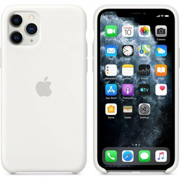 Originální Apple silikonový kryt pro iPhone 11 Pro - bílý MWYL2ZM/A - možnost vrátit zboží ZDARMA do 30ti dní