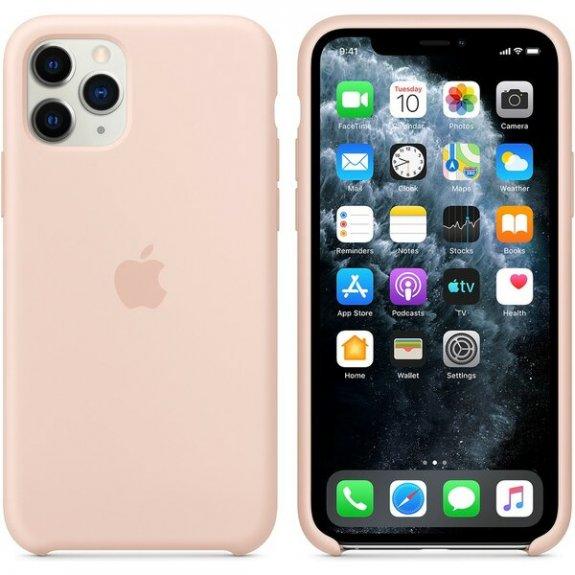 Originální Apple silikonový kryt pro iPhone 11 Pro - pískově růžový MWYM2ZM/A - možnost vrátit zboží ZDARMA do 30ti dní