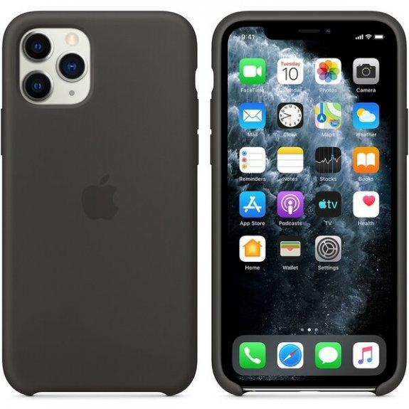 Originální Apple silikonový kryt pro iPhone 11 Pro - černý MWYN2ZM/A - možnost vrátit zboží ZDARMA do 30ti dní
