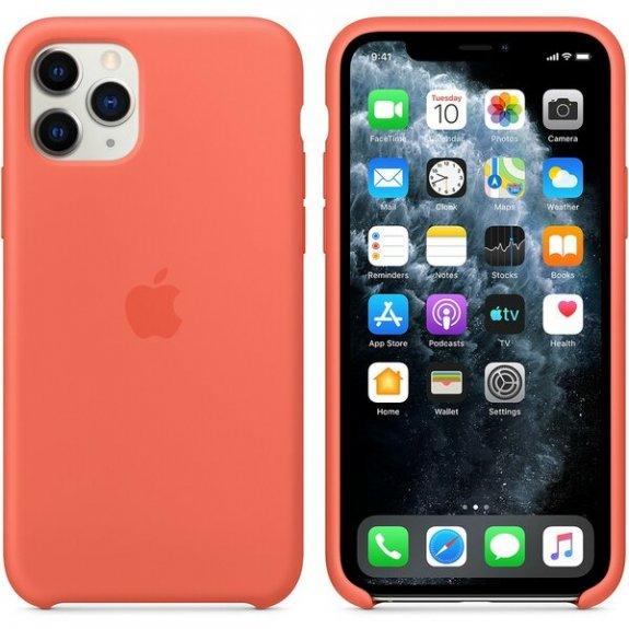 Originální Apple silikonový kryt pro iPhone 11 Pro - mandarinkový MWYQ2ZM/A - možnost vrátit zboží ZDARMA do 30ti dní