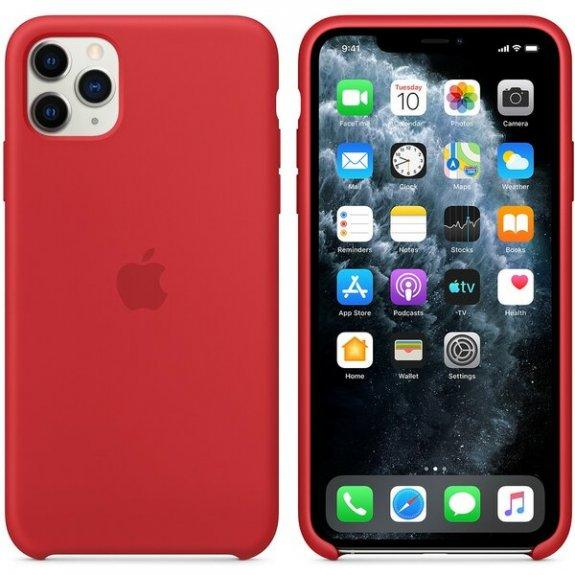 Originální Apple silikonový kryt pro iPhone 11 Pro Max - červený MWYV2ZM/A - možnost vrátit zboží ZDARMA do 30ti dní
