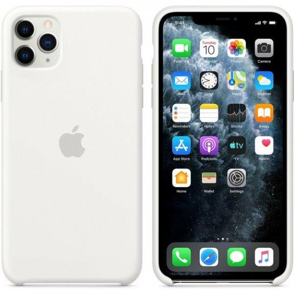 Originální Apple silikonový kryt pro iPhone 11 Pro Max - bílý MWYX2ZM/A - možnost vrátit zboží ZDARMA do 30ti dní