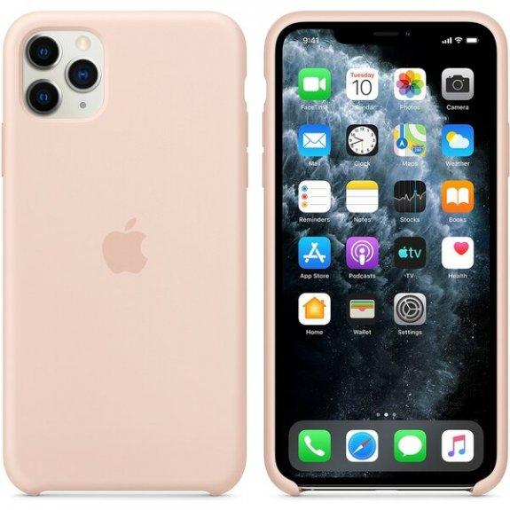 Originální Apple silikonový kryt pro iPhone 11 Pro Max - pískově růžový MWYY2ZM/A - možnost vrátit zboží ZDARMA do 30ti dní