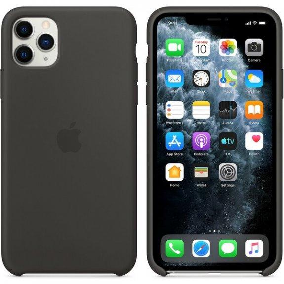 Originální Apple silikonový kryt pro iPhone 11 Pro Max - černý MX002ZM/A - možnost vrátit zboží ZDARMA do 30ti dní