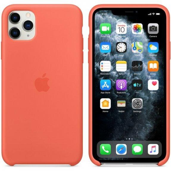 Originální Apple silikonový kryt pro iPhone 11 Pro Max - mandarinkový MX022ZM/A - možnost vrátit zboží ZDARMA do 30ti dní