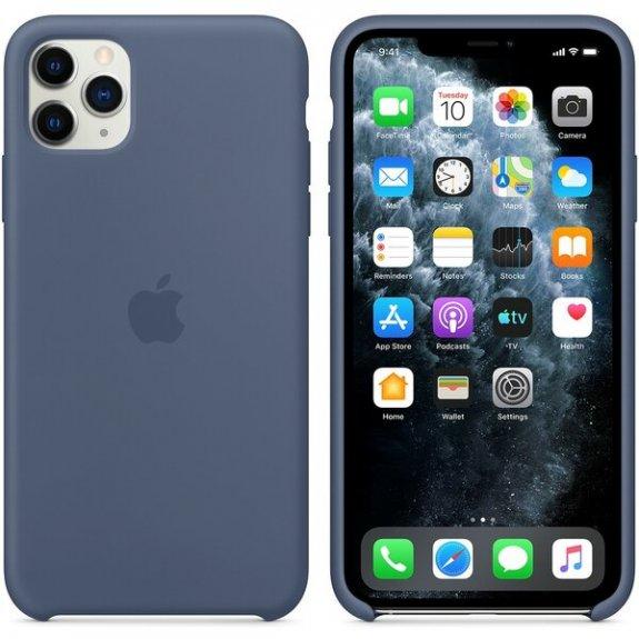 Originální Apple silikonový kryt pro iPhone 11 Pro Max - seversky modrý MX032ZM/A - možnost vrátit zboží ZDARMA do 30ti dní