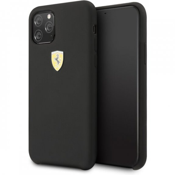 Ferrari silikonový kryt pro iPhone 11 - černý 3700740459492 - možnost vrátit zboží ZDARMA do 30ti dní