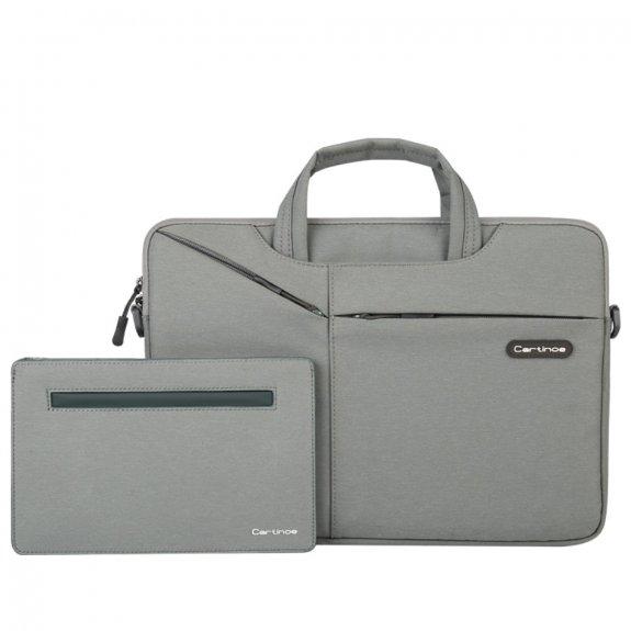 """Cartinoe brašna s taštičkou na příslušenství pro MacBook 13"""" / Air 13"""" / Pro 13"""" - šedá - možnost vrátit zboží ZDARMA do 30ti dní"""