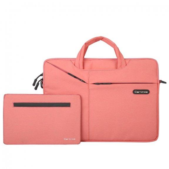 """Cartinoe brašna s taštičkou na příslušenství pro MacBook 13"""" - růžová - možnost vrátit zboží ZDARMA do 30ti dní"""