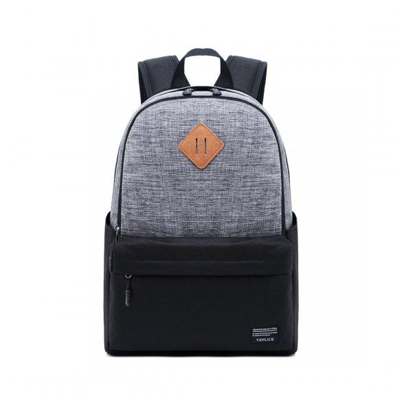 """AppleKing multifunkční batoh vhodný na iPad / MacBook do 15"""" - šedo-černý - možnost vrátit zboží ZDA"""
